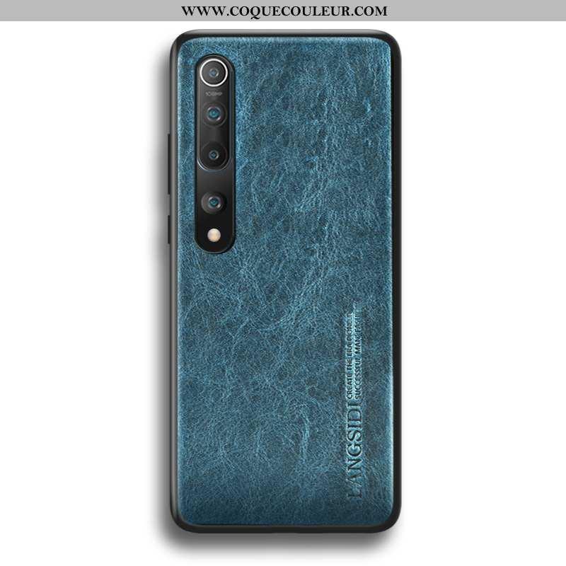 Coque Xiaomi Mi 10 Légère Délavé En Daim Protection, Housse Xiaomi Mi 10 Cuir Téléphone Portable Ble