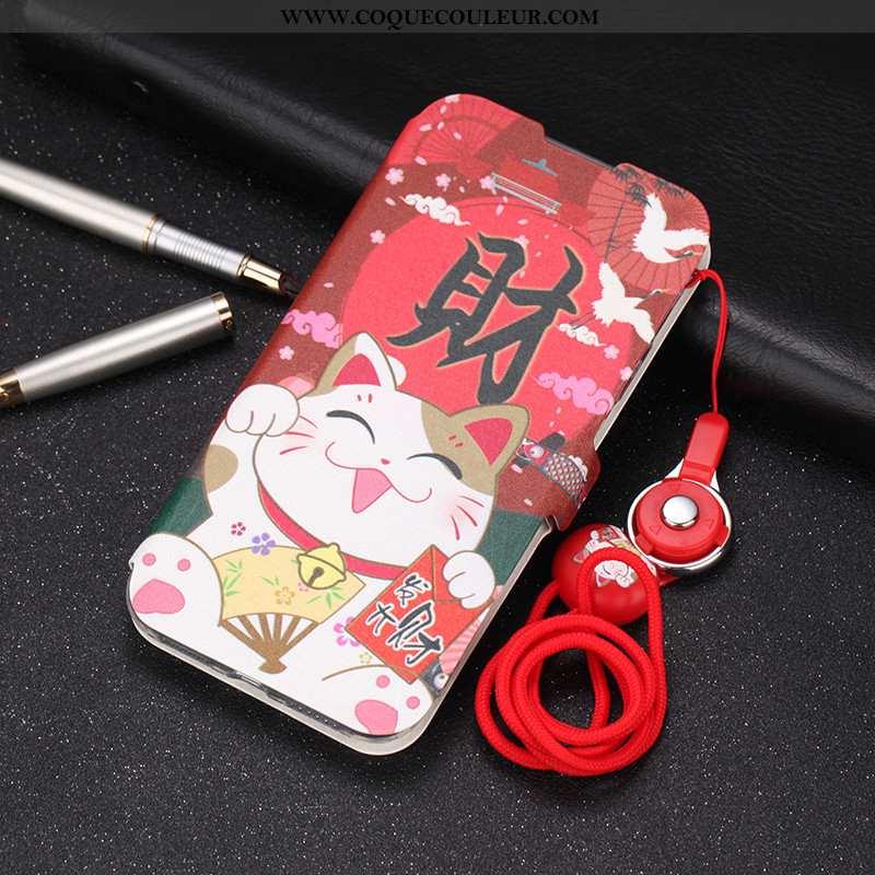 Coque Xiaomi Mi 10 Tendance Silicone Fluide Doux, Housse Xiaomi Mi 10 Cuir Téléphone Portable Rouge