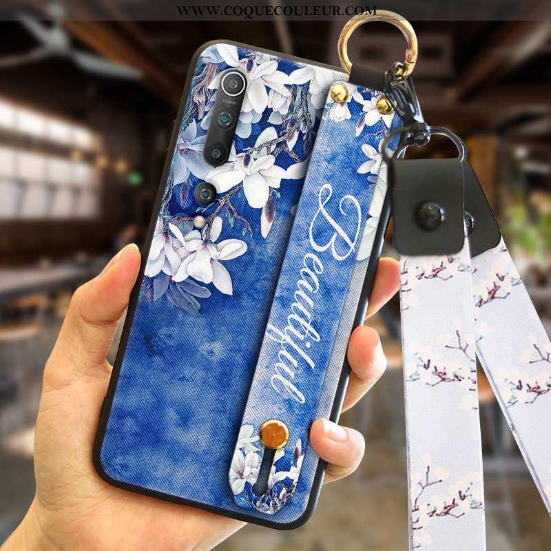 Housse Xiaomi Mi 10 Créatif Protection Tendance, Étui Xiaomi Mi 10 Ultra Net Rouge Bleu