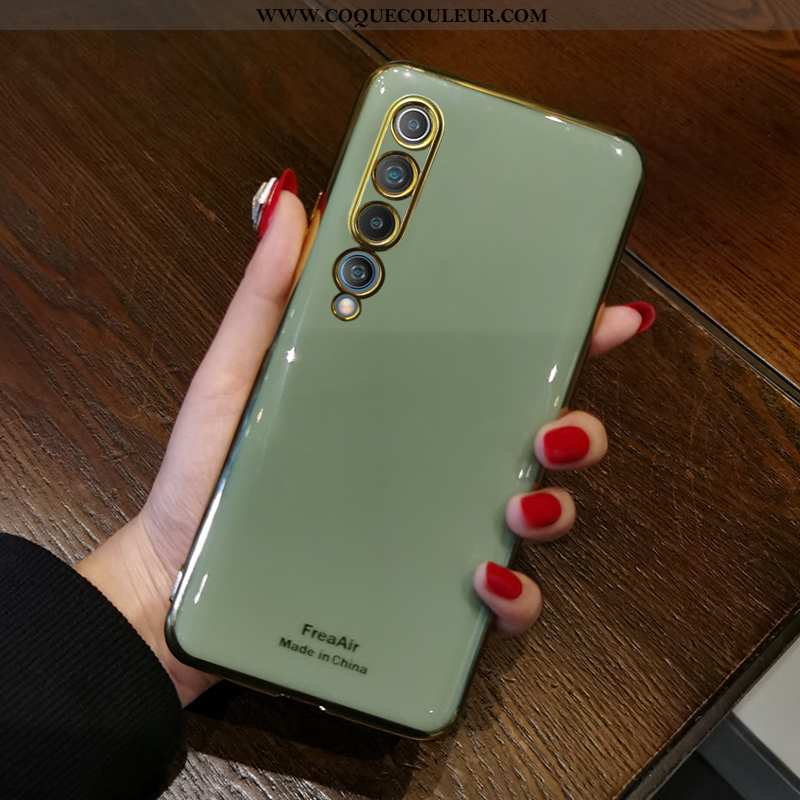 Coque Xiaomi Mi 10 Protection Vert Tout Compris, Housse Xiaomi Mi 10 Tendance Net Rouge Verte