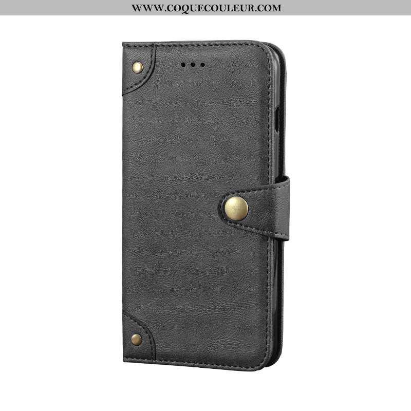 Étui Xiaomi Mi 10 Fluide Doux Personnalité Tendance, Coque Xiaomi Mi 10 Protection Cuir Noir