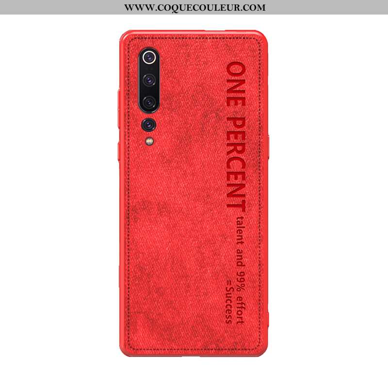 Housse Xiaomi Mi 10 Personnalité Tendance Légère, Étui Xiaomi Mi 10 Vintage Incassable Rouge