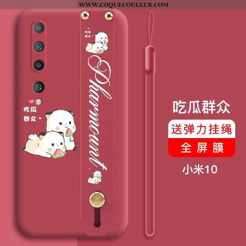Étui Xiaomi Mi 10 Ultra Petit Net Rouge, Coque Xiaomi Mi 10 Légère Tout Compris Rouge