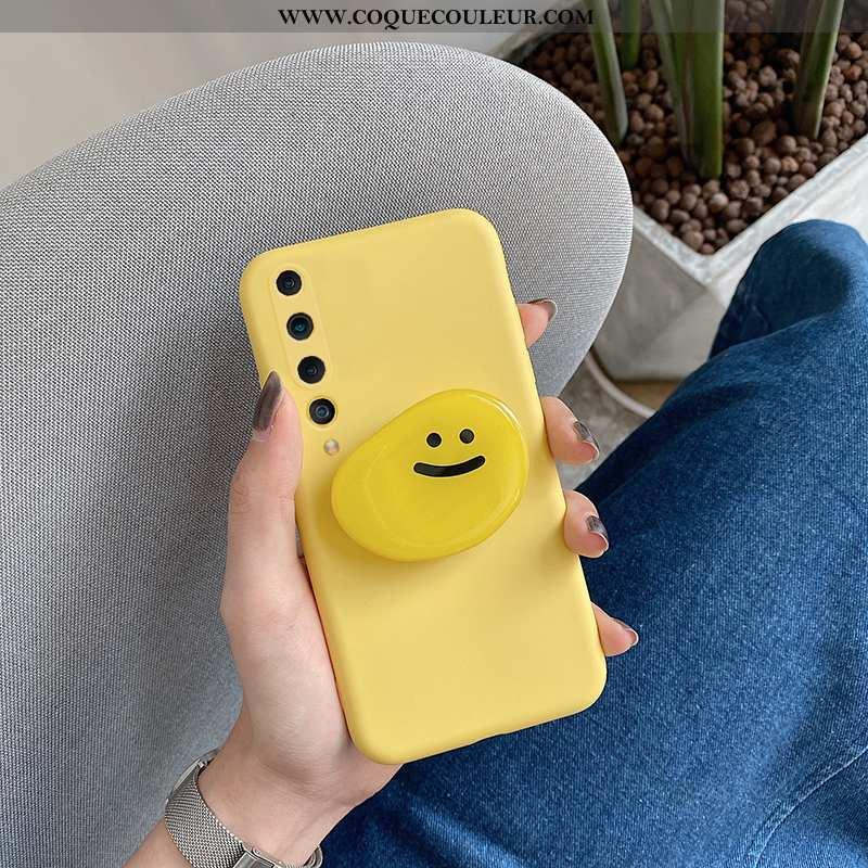 Coque Xiaomi Mi 10 Tendance Téléphone Portable, Housse Xiaomi Mi 10 Fluide Doux Support Jaune