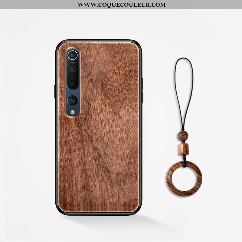 Coque Xiaomi Mi 10 En Bois Tout Compris Jeunesse, Housse Xiaomi Mi 10 Modèle Fleurie Incassable Marr