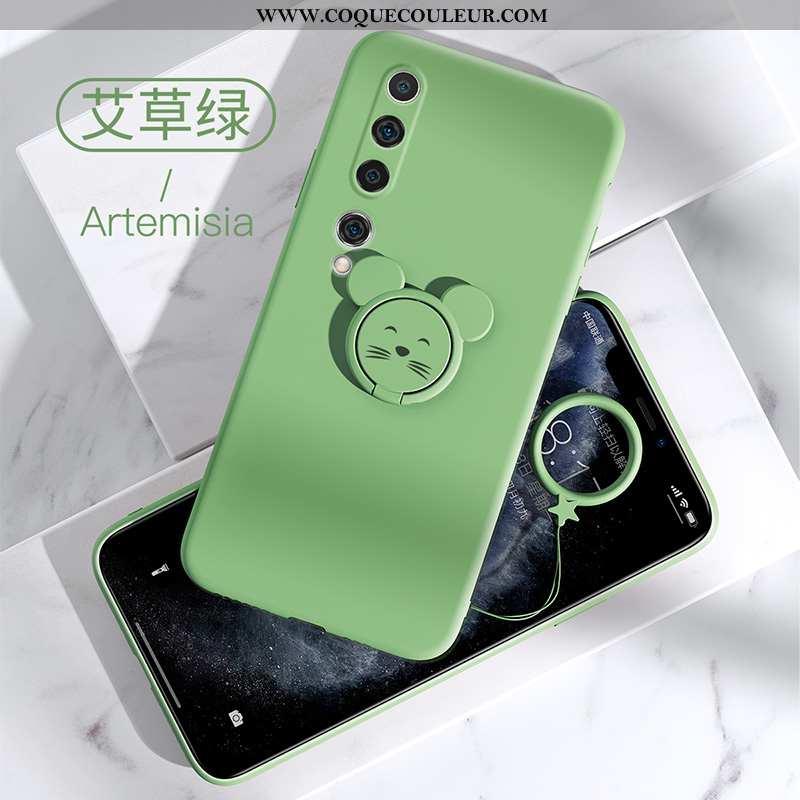 Étui Xiaomi Mi 10 Protection Jeunesse Silicone, Coque Xiaomi Mi 10 Tendance Incassable Verte