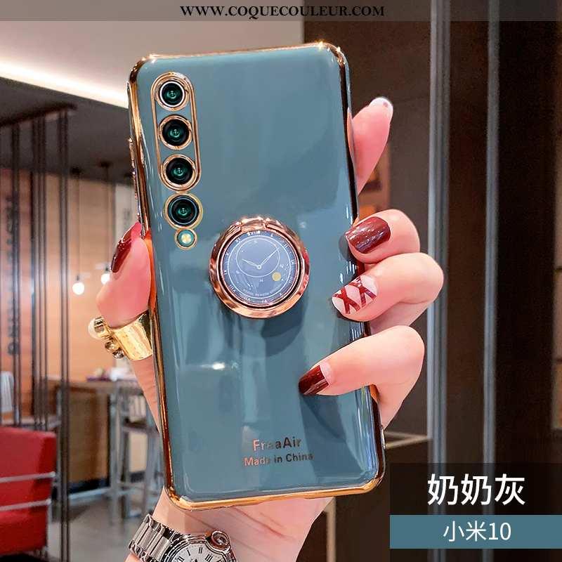 Étui Xiaomi Mi 10 Protection Support Net Rouge, Coque Xiaomi Mi 10 Créatif Incassable Verte