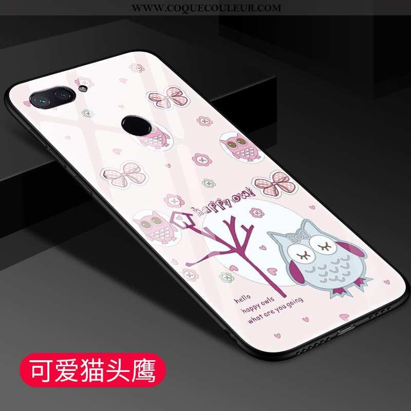 Étui Xiaomi Mi 8 Lite Protection Jeunesse Téléphone Portable, Coque Xiaomi Mi 8 Lite Verre Rose