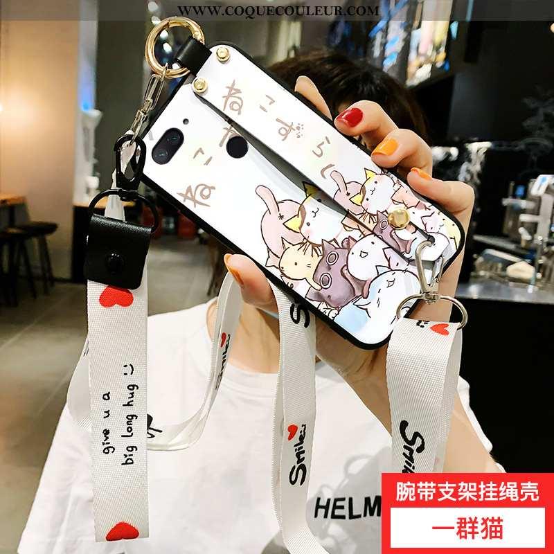 Étui Xiaomi Mi 8 Lite Fluide Doux Petit Coque, Coque Xiaomi Mi 8 Lite Silicone Téléphone Portable Bl