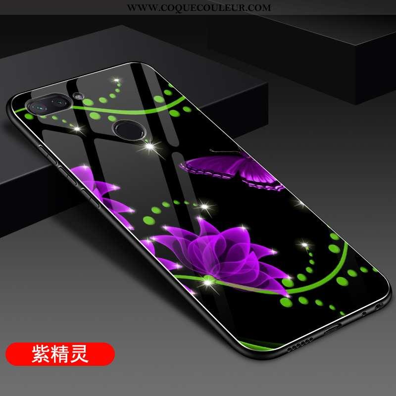 Coque Xiaomi Mi 8 Lite Fluide Doux Personnalité Net Rouge, Housse Xiaomi Mi 8 Lite Silicone Verre Vi