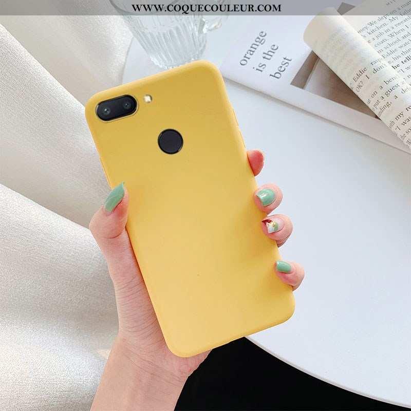 Coque Xiaomi Mi 8 Lite Cuir Petit, Housse Xiaomi Mi 8 Lite Étui Jaune