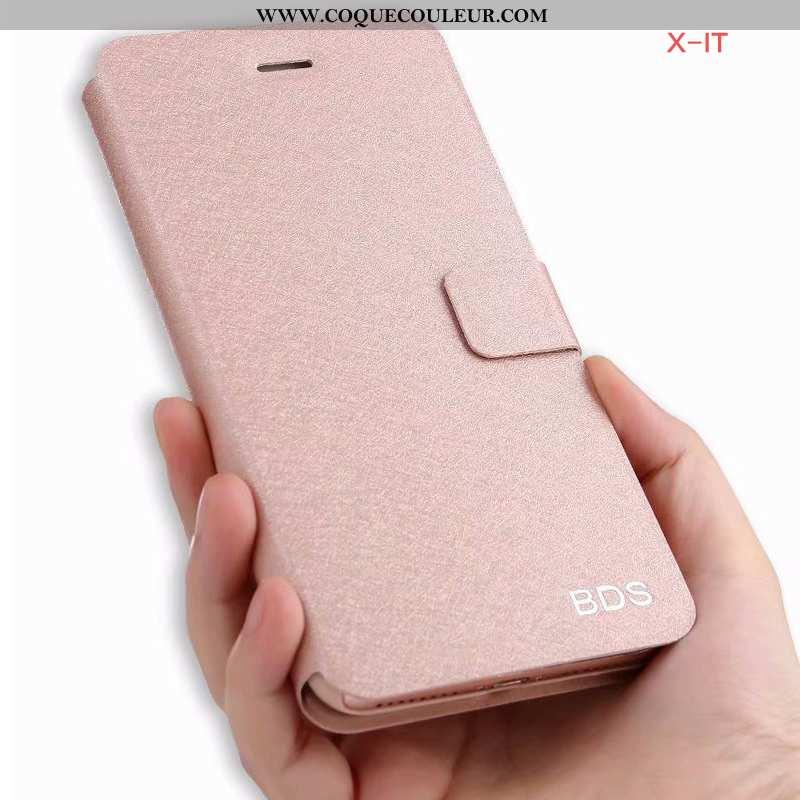 Housse Xiaomi Mi 8 Lite Protection Incassable Coque, Étui Xiaomi Mi 8 Lite Cuir Jeunesse Rose