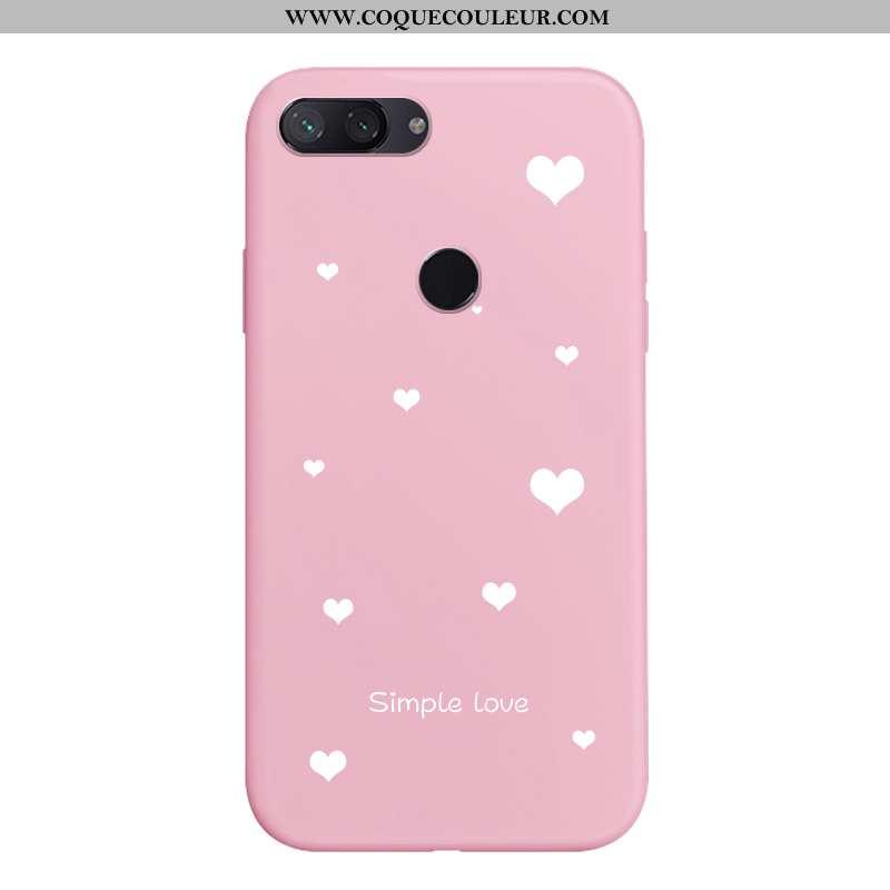 Housse Xiaomi Mi 8 Lite Protection Peinture Silicone, Étui Xiaomi Mi 8 Lite Délavé En Daim Amoureux