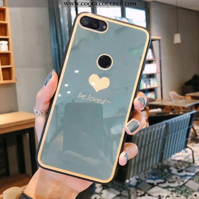 Étui Xiaomi Mi 8 Lite Protection Tout Compris Net Rouge, Coque Xiaomi Mi 8 Lite Verre Gris