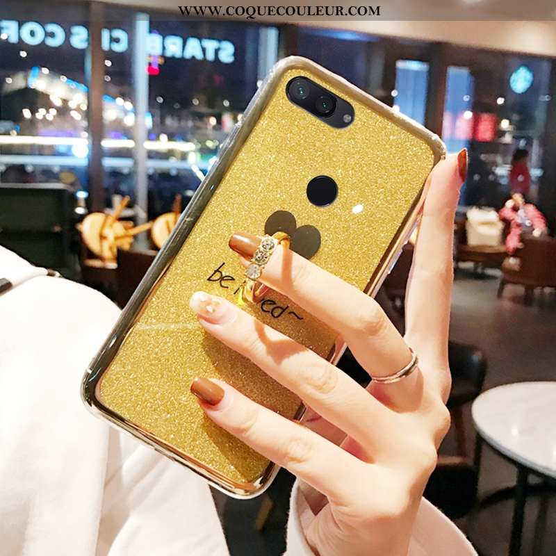 Coque Xiaomi Mi 8 Lite Tendance Téléphone Portable Jaune, Housse Xiaomi Mi 8 Lite Fluide Doux Protec