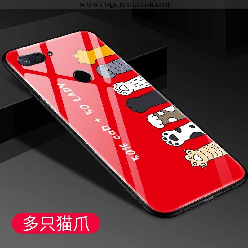 Housse Xiaomi Mi 8 Lite Personnalité Coque Rouge, Étui Xiaomi Mi 8 Lite Créatif Légère Rouge
