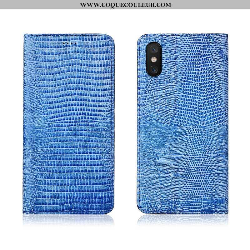 Housse Xiaomi Mi 8 Pro Modèle Fleurie Cuir Véritable Téléphone Portable, Étui Xiaomi Mi 8 Pro Fluide