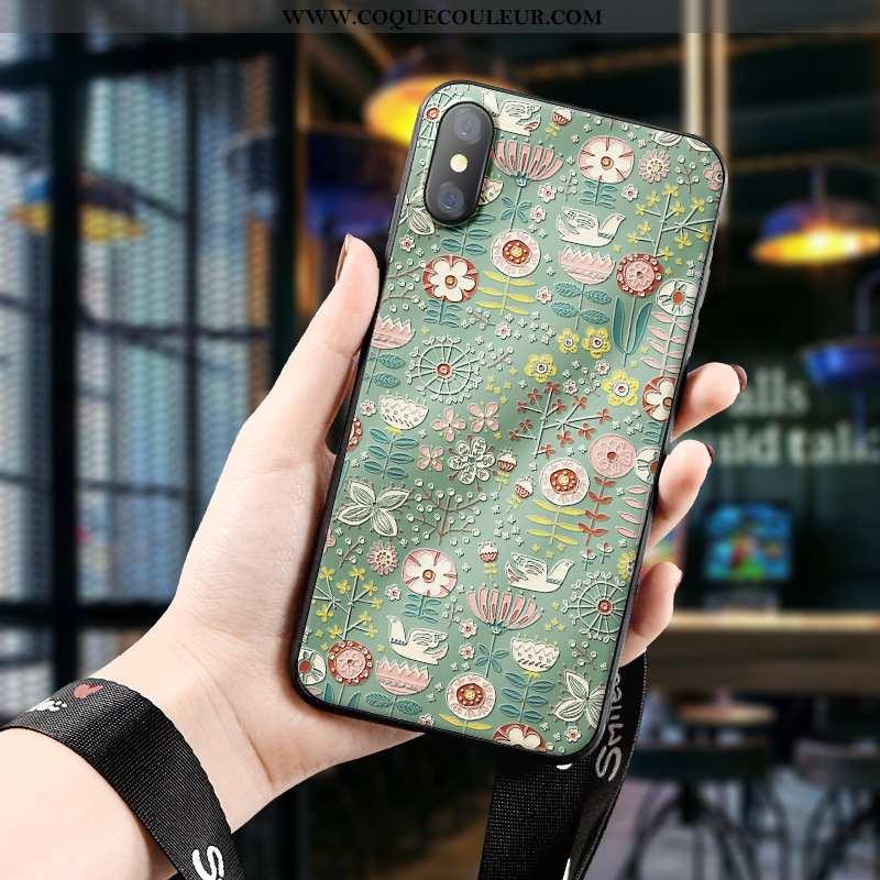 Housse Xiaomi Mi 8 Pro Délavé En Daim Jeunesse Vert, Étui Xiaomi Mi 8 Pro Personnalité Petit Verte