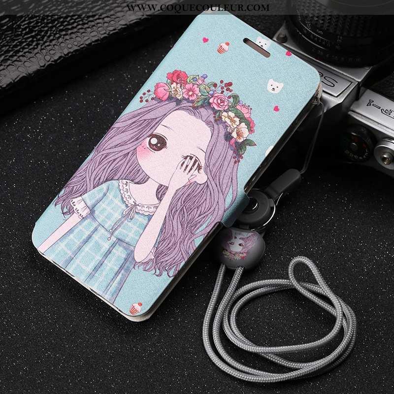 Coque Xiaomi Mi 8 Pro Délavé En Daim Téléphone Portable Incassable, Housse Xiaomi Mi 8 Pro Dessin An