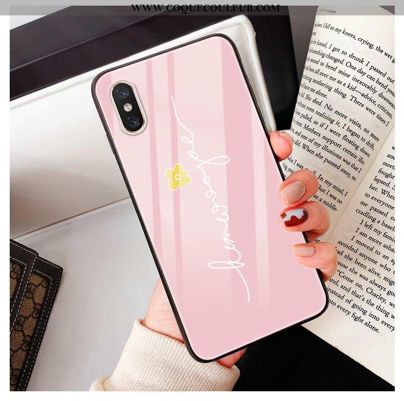 Housse Xiaomi Mi 8 Pro Verre Jeunesse Petit, Étui Xiaomi Mi 8 Pro Charmant Modèle Fleurie Rose