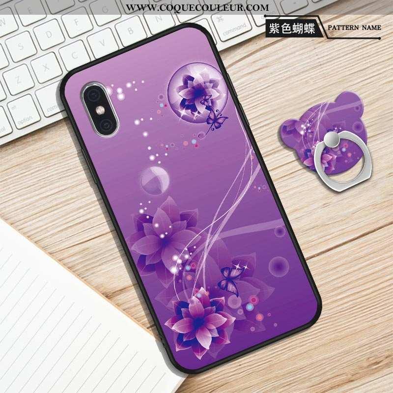 Housse Xiaomi Mi 8 Pro Tendance Nouveau Violet, Étui Xiaomi Mi 8 Pro Modèle Fleurie Violet