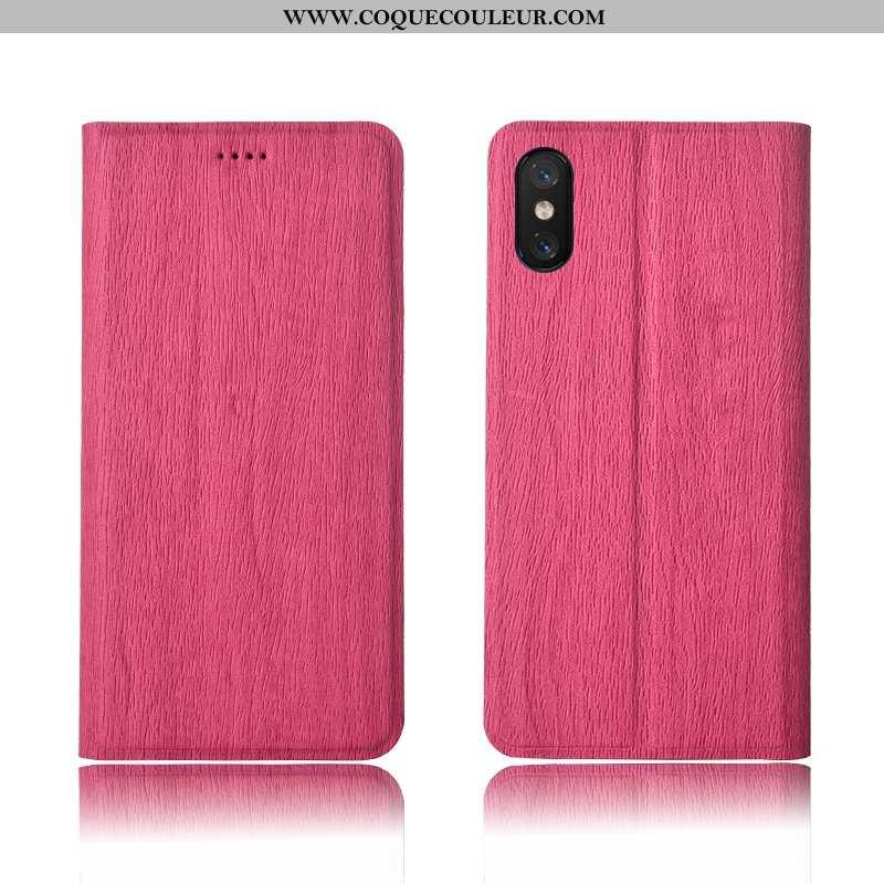 Coque Xiaomi Mi 8 Pro Protection Nouveau Clamshell, Housse Xiaomi Mi 8 Pro Cuir Tout Compris Rose