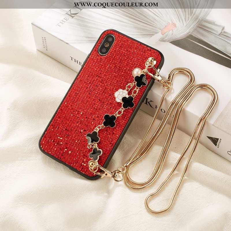 Étui Xiaomi Mi 8 Pro Tendance Rose Rouge, Coque Xiaomi Mi 8 Pro Fluide Doux Protection Rouge
