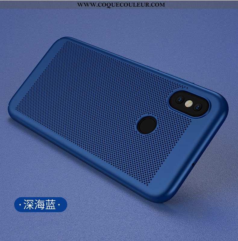 Coque Xiaomi Mi 8 Protection Refroidissement Évasé, Housse Xiaomi Mi 8 Délavé En Daim Nouveau Bleu F