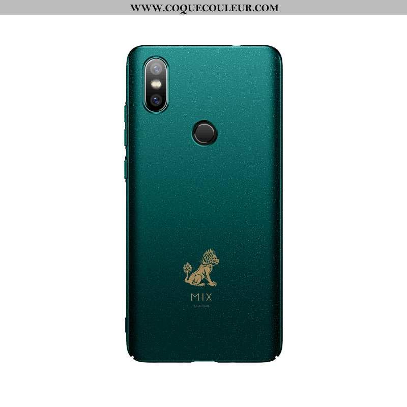 Housse Xiaomi Mi 8 Créatif Coque Magnétisme, Étui Xiaomi Mi 8 Ultra Incassable Verte