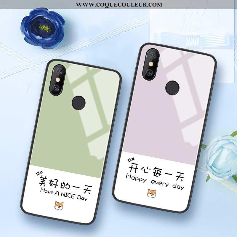 Housse Xiaomi Mi 8 Personnalité Art Net Rouge, Étui Xiaomi Mi 8 Créatif Jeunesse Verte