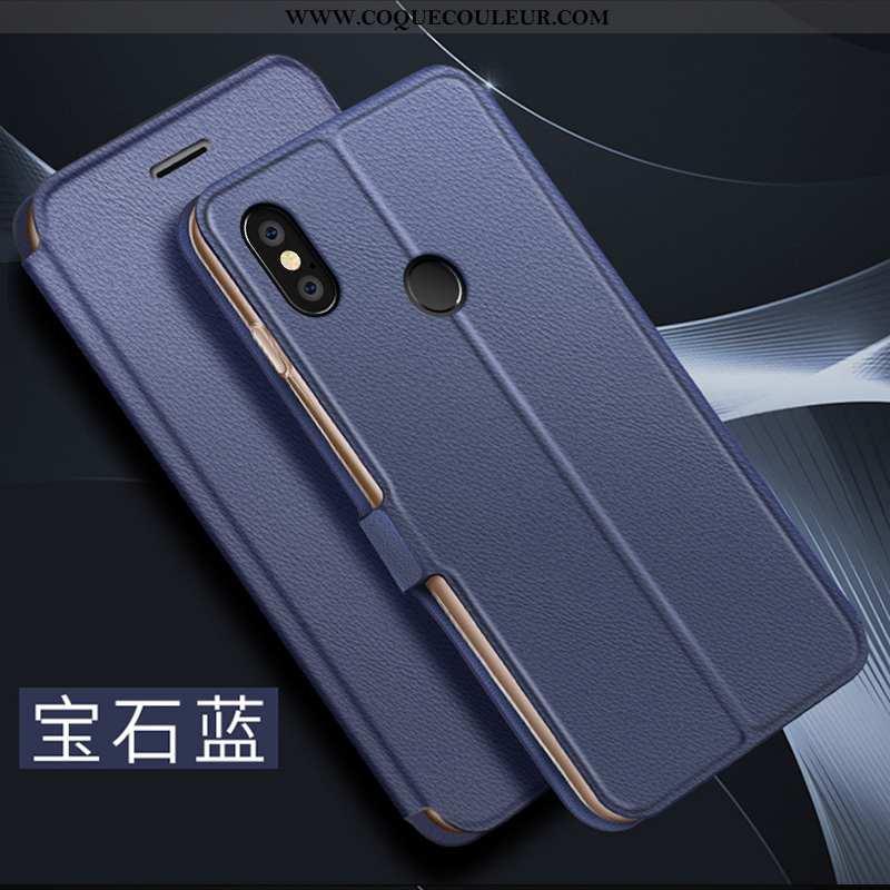 Coque Xiaomi Mi 8 Personnalité Cuir Protection, Housse Xiaomi Mi 8 Créatif Tout Compris Bleu