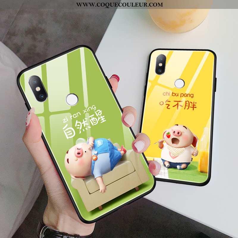 Housse Xiaomi Mi 8 Ultra Incassable Jeunesse, Étui Xiaomi Mi 8 Tendance Fluide Doux Verte