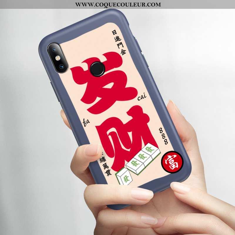 Étui Xiaomi Mi 8 Délavé En Daim Légère Amoureux, Coque Xiaomi Mi 8 Ultra Protection Bleu