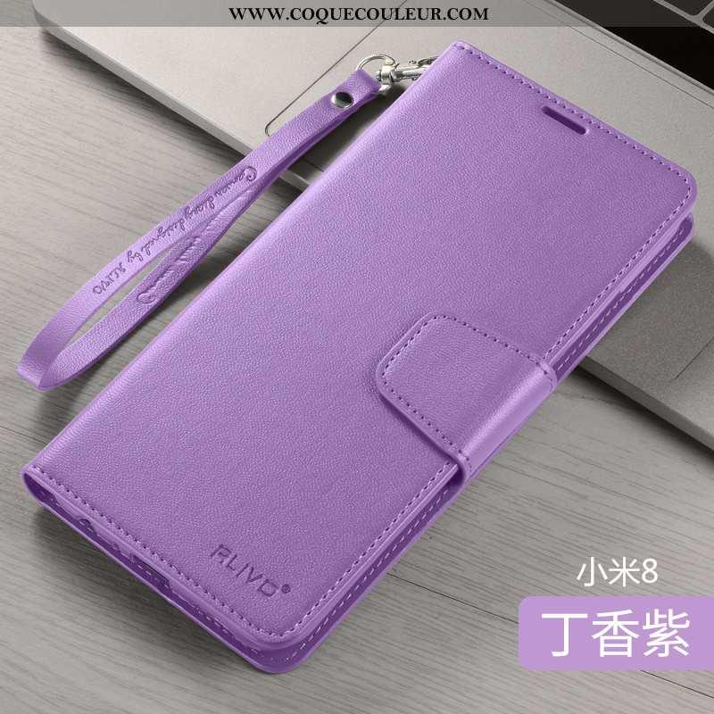 Housse Xiaomi Mi 8 Fluide Doux Étui Protection, Xiaomi Mi 8 Silicone Incassable Violet