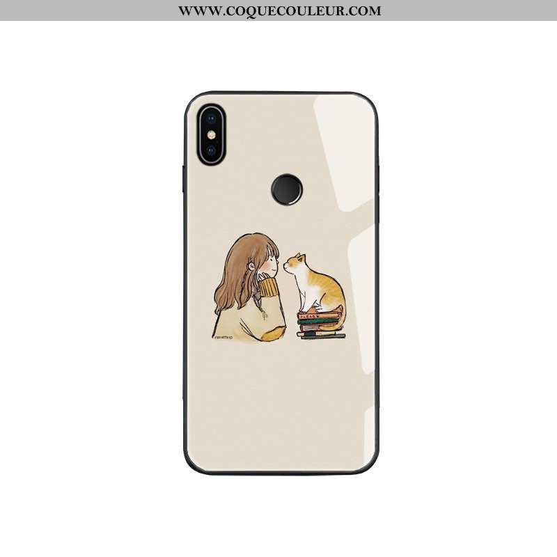 Housse Xiaomi Mi 8 Modèle Fleurie Jaune Jeunesse, Étui Xiaomi Mi 8 Verre Personnalité
