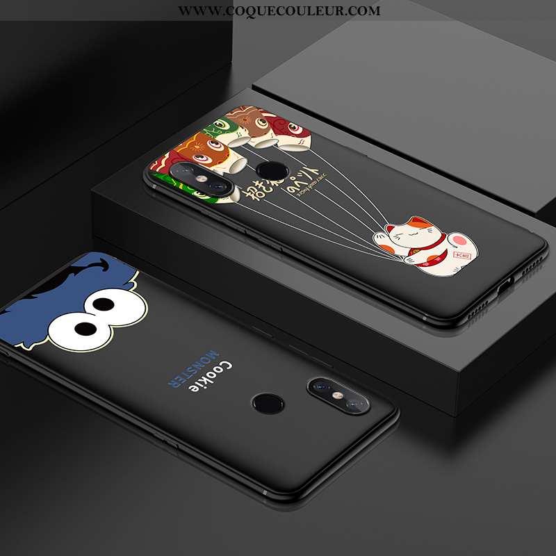 Étui Xiaomi Mi 8 Ultra Tout Compris Vent, Coque Xiaomi Mi 8 Légère Personnalité Noir