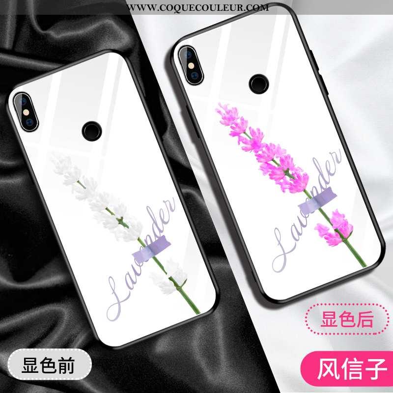 Étui Xiaomi Mi 8 Ornements Suspendus Difficile Blanc, Coque Xiaomi Mi 8 Personnalité Tempérer Blanch
