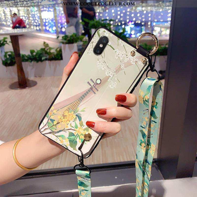 Coque Xiaomi Mi 8 Modèle Fleurie Délavé En Daim Jeunesse, Housse Xiaomi Mi 8 Fluide Doux Tout Compri