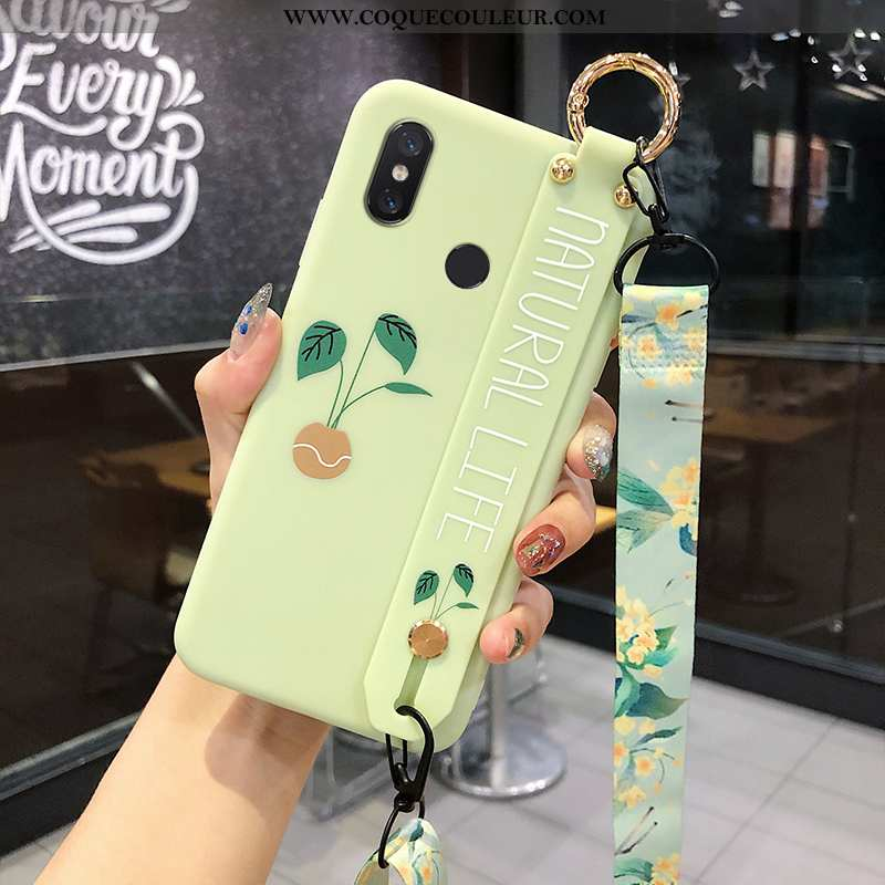 Étui Xiaomi Mi 8 Cou Suspendu Téléphone Portable Frais, Coque Xiaomi Mi 8 Modèle Fleurie Membrane Ve