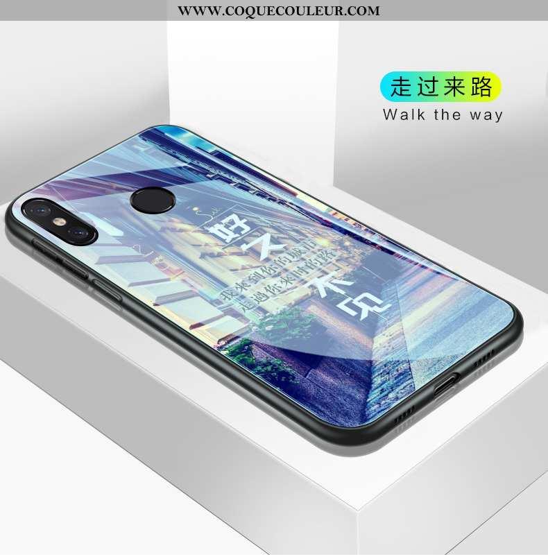 Coque Xiaomi Mi 8 Silicone Petit Fluide Doux, Housse Xiaomi Mi 8 Protection Téléphone Portable Viole