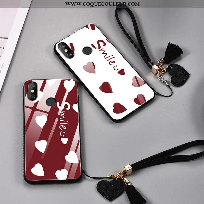 Coque Xiaomi Mi 8 Créatif Modèle Fleurie Amoureux, Housse Xiaomi Mi 8 Ultra Tendance Rouge
