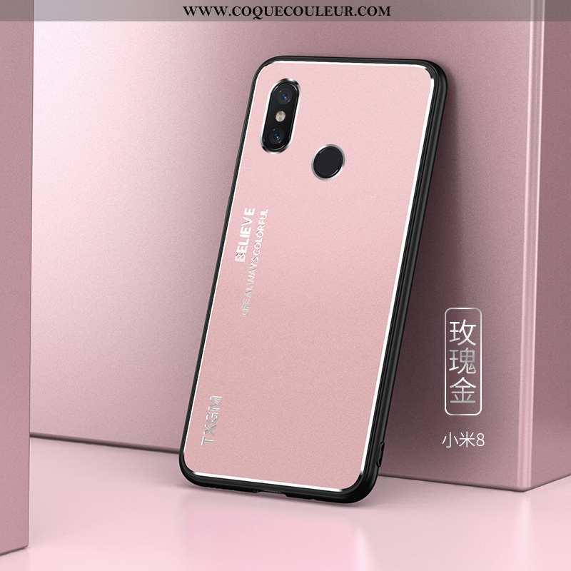 Housse Xiaomi Mi 8 Ultra Tout Compris Protection, Étui Xiaomi Mi 8 Légère Personnalité Rose