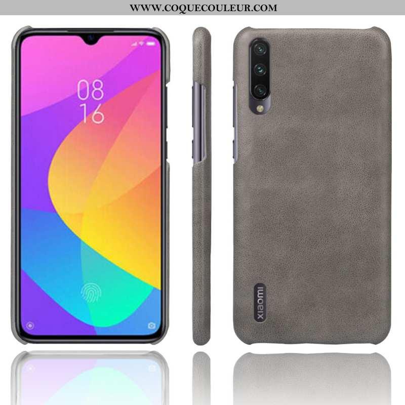 Coque Xiaomi Mi 9 Lite Délavé En Daim Étui Imperméable, Housse Xiaomi Mi 9 Lite Cuir Téléphone Porta