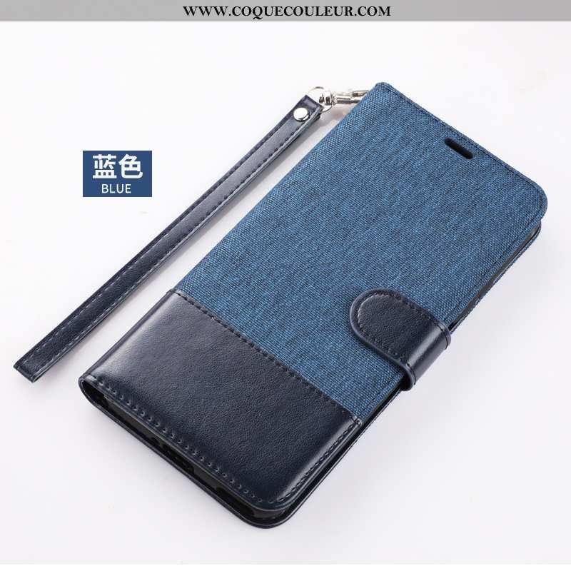 Étui Xiaomi Mi 9 Lite Cuir Coque Incassable, Xiaomi Mi 9 Lite Téléphone Portable Bleu