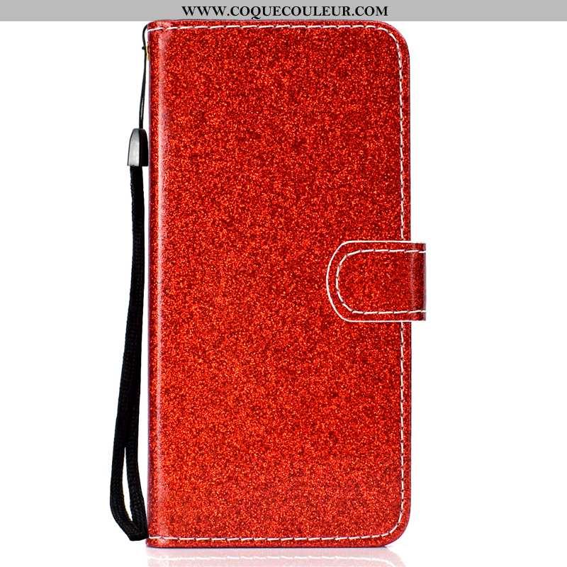 Housse Xiaomi Mi 9 Lite Silicone Cuir Housse, Étui Xiaomi Mi 9 Lite Protection Rouge
