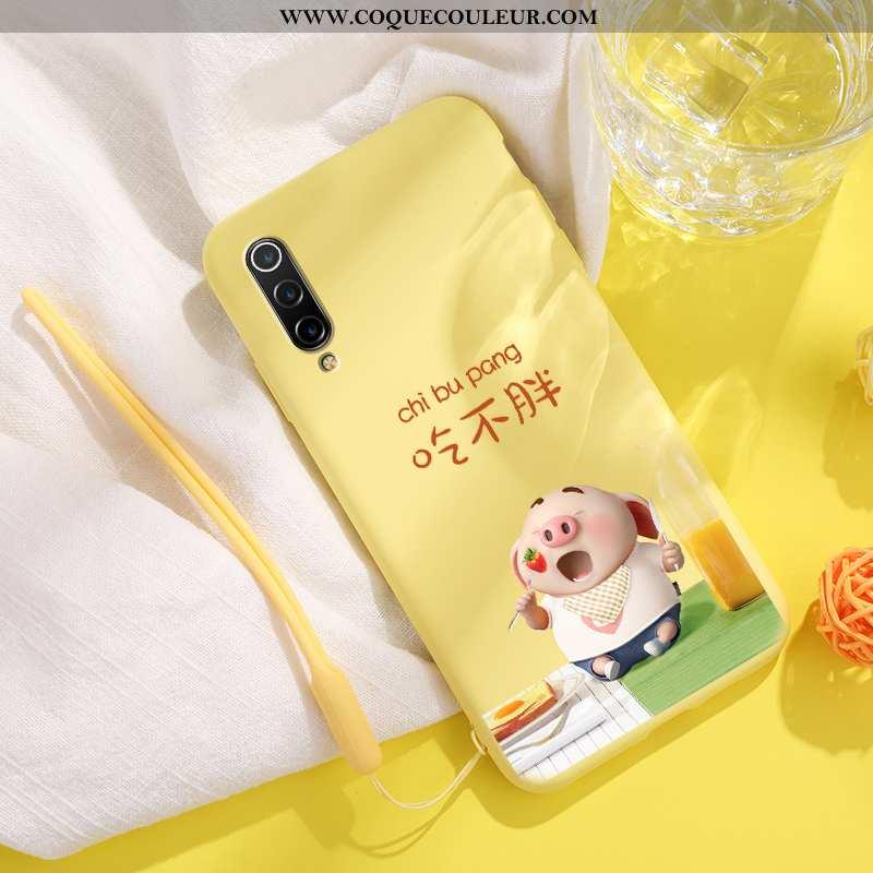 Étui Xiaomi Mi 9 Lite Fluide Doux Difficile Petit, Coque Xiaomi Mi 9 Lite Silicone Jaune