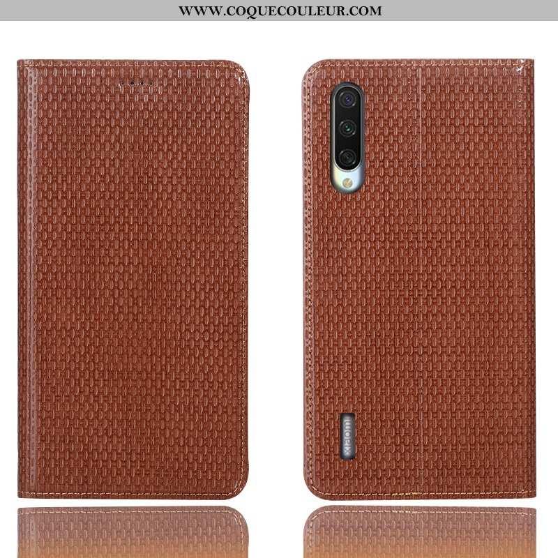 Étui Xiaomi Mi 9 Lite Modèle Fleurie Housse Coque, Coque Xiaomi Mi 9 Lite Protection Marron