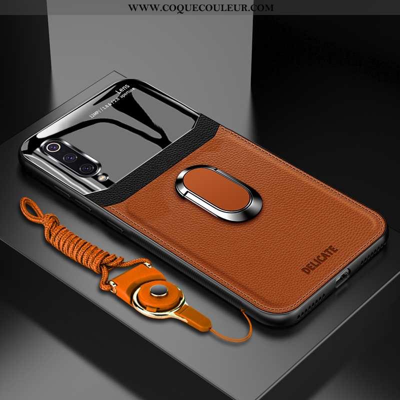Housse Xiaomi Mi 9 Lite Protection Petit Personnalisé, Étui Xiaomi Mi 9 Lite Verre Incassable Marron