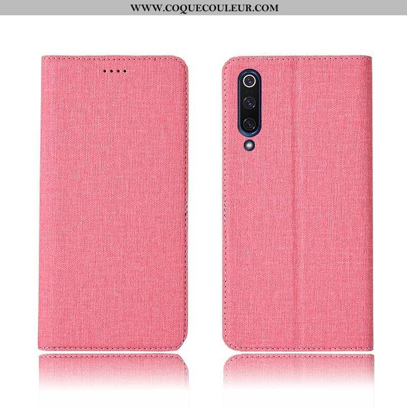 Housse Xiaomi Mi 9 Lite Protection Personnalisé Tout Compris, Étui Xiaomi Mi 9 Lite Cuir Petit Rose