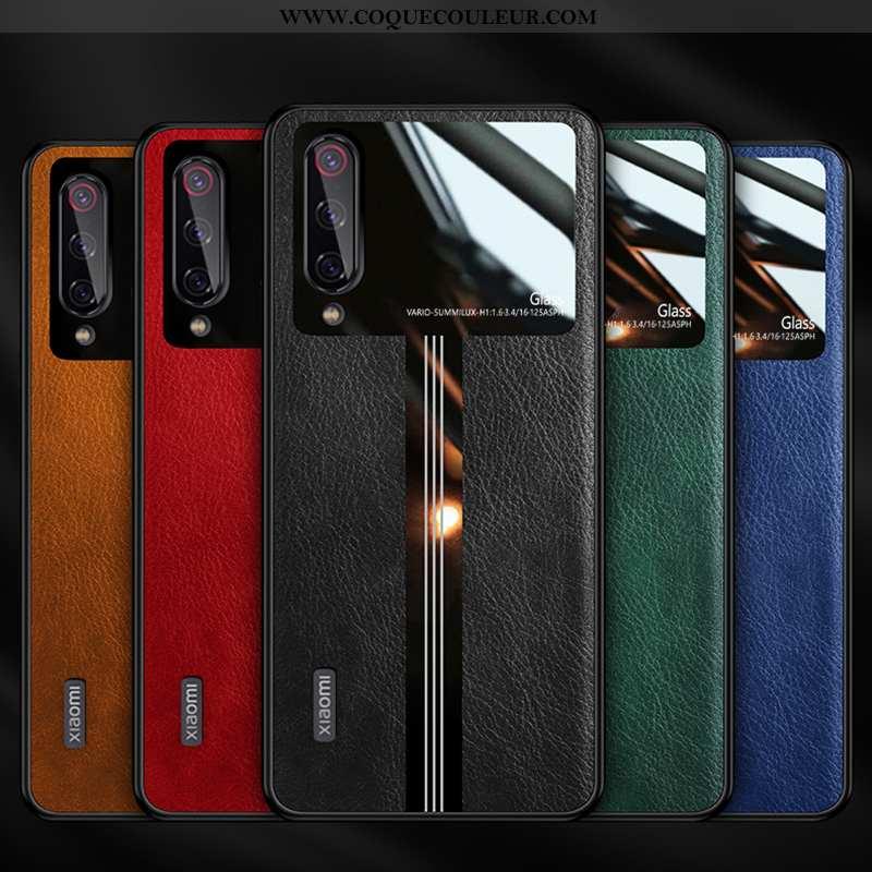 Housse Xiaomi Mi 9 Lite Personnalité Noir Modèle Fleurie, Étui Xiaomi Mi 9 Lite Créatif Nouveau